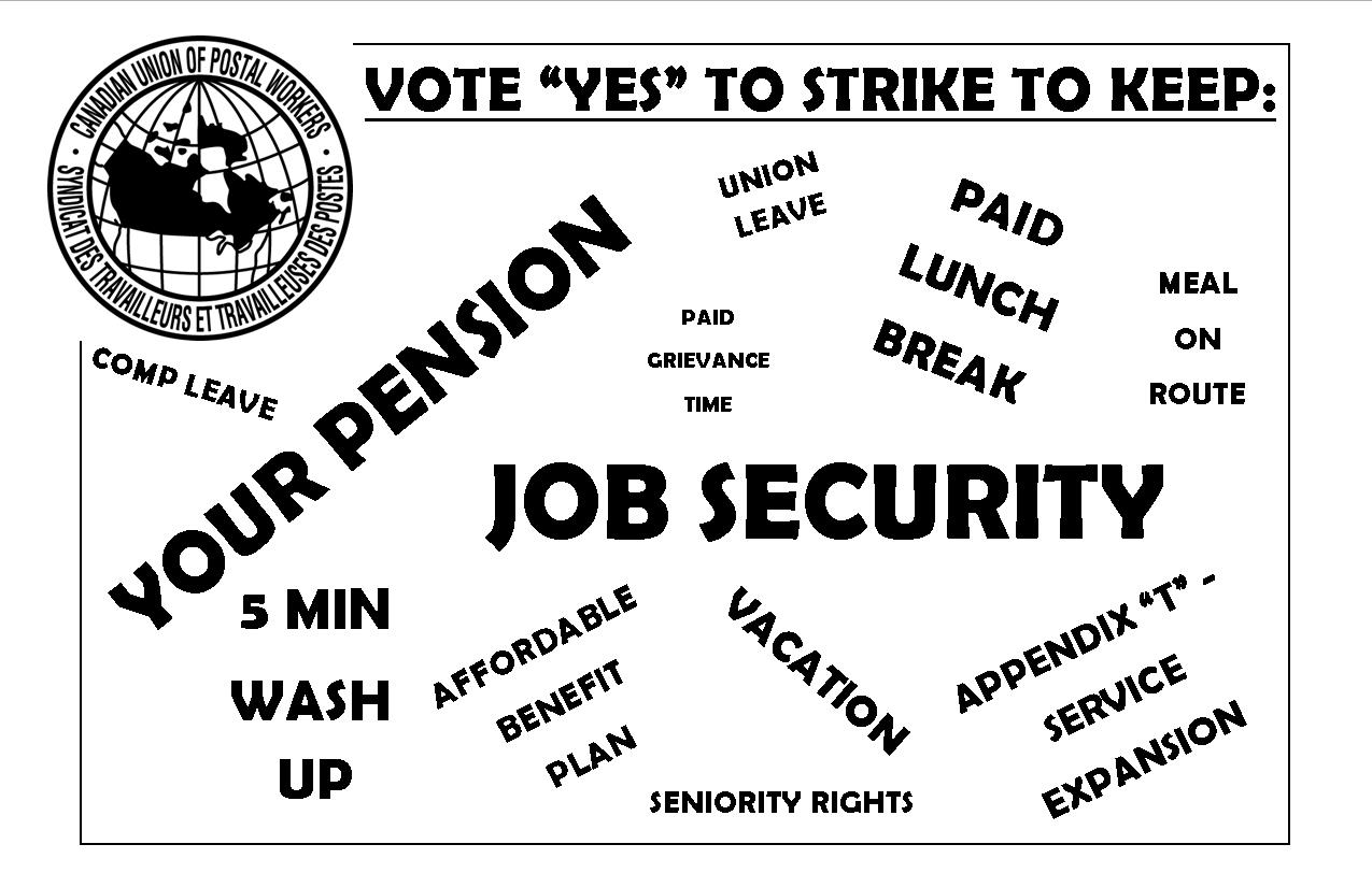STRIKE VOTE HANDBILL