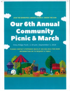 6th Annual Community Picnic & March @ Vimy Ridge Park | Winnipeg | Manitoba | Canada